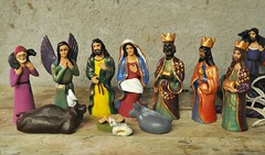 Nativity Scene Nacimiento Mexico (Teyacapan) Tags: christmas mexico navidad folkart mexican pottery creche nativity belen nacimiento