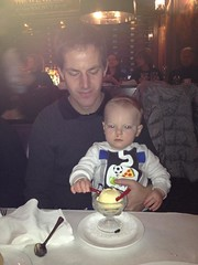 """Paul Eats Snowman Ice Cream at the Walnut Room • <a style=""""font-size:0.8em;"""" href=""""http://www.flickr.com/photos/109120354@N07/16119524095/"""" target=""""_blank"""">View on Flickr</a>"""