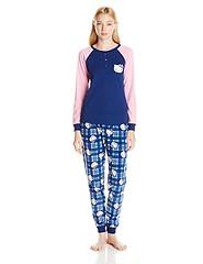 Hello Kitty Women's Lovely Dreamer Plaid Raglan Sleeve Pajama Set, Blue/Multi, Medium (whats_home_health_care) Tags: hello kitty womens medium lovely raglan plaid dreamer sleeve pajama bluemulti