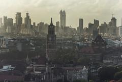Mumbai Skyline, aerial view, Fort (E R) Tags: india fort clocktower bombay mumbai birdseyeview arielview urbandevelopment thirdworld bombaystockexchange megacity mumbaiskyline mumbaicity mumbaicityscape aerialviewofmumbai