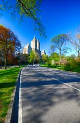 New York's Central Park (` Toshio ') Tags: road nyc newyorkcity trees usa newyork grass america outdoors hotel centralpark running biking toshio xe2 fujixe2