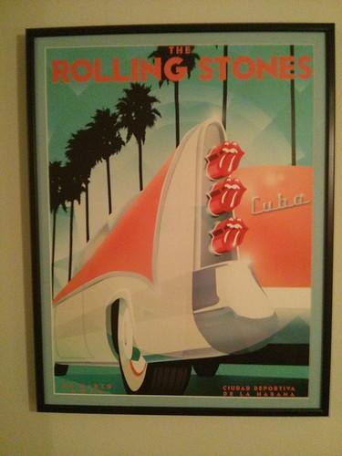 Rolling Stones Poster Cuba