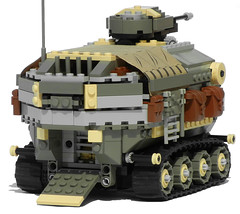 Rhino Heavy Diesel Personnel Carrier Mk. XXVIII (ramp) (aillery) Tags: field hospital power control lego diesel military transport battery ground center medical workshop repair rhino vehicle remote motor functions apc rc armored command carrier motorized troop personnel tracked dieselpunk terradyne crayven
