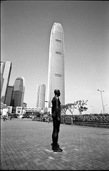Such a fine morning - Hong Kong (waex99) Tags: leica film architecture kodak trix 03 hong kong epson familly m4 scultpure gormley 400iso 2016 v500 35mmf28