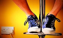 "Chill ! (CJS*64 ""Man with a camera"") Tags: blue orange colour feet nikon shoes chillin retro converse plug sat nikkor dslr stool chill socket cjs blueshoes nikkorlens d7000 nikond7000 craigsunter cjs64"