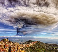Atomic Visions (Davide Castiglione) Tags: sky cloud nature mushroom landscape volcano horizon atmosphere sicily etna paesaggio cumulonimbus snowly paroxysm parossismo centuripe