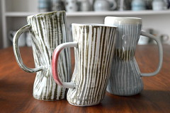 Mia Kunyo Pottery (Mia Kunyo) Tags: white game cup beer coffee modern ceramics day handmade rustic clay gift mia mug etsy viking stein porcelain fathers thrones tankard dayg kunyo