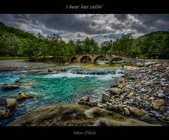 I hear her callin' (Nikos O'Nick) Tags: nikos kotanidis onick nicholas nikon d810 nikkor 1424mm wide angle manfrotto 055xporb 498 rc2 hdr photomatix tripod river bridge nestorio kastoria hellas macedonia greece trees stones clouds sky hear callin neil young out weekend                nick