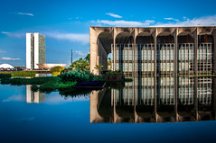 Itamaraty Palace (philippemodolo) Tags: city sky braslia brasil architecture mirror reflexions