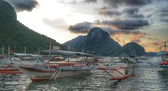 El Nido Sunset (sonnymmercado) Tags: sunset sky nature water landscape island boat outdoor elnido palawan