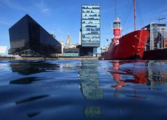Canning Dock (.annajane) Tags: uk england reflection water liverpool boat dock ship planet lightship merseyside liverbuilding canningdock mannisland