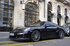 Porsche 911 Turbo S 991 (Monde-Auto Passion Photos) Tags: auto paris france automobile noir 911 turbo porsche coup worldcars