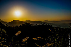 Backlit Sarangkot (erbansalrahul) Tags: morning nepal plants mountains layers sarangkot
