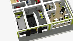 Motorgerte Fachhndler (Power Equipment Dealer) 1.0 05 (-Nightfall-) Tags: lego elevator modular moc powerequipment modularbuilding