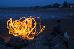 Fire Watch (David Chennell - DavidC.Photography) Tags: fire firespinning abstract wirral beach westkirby merseyside