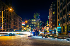 The Meatpacking district, NY (Arutemu) Tags: urban usa us unitedstates night nighttime nightscape nyc ny newyork newyorkcity nightshot nightfall nightstreet nightview manhattan metropolis manualfocus mirrorless highline voigtlander nokton 35mm f12