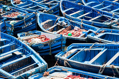 Blue boats @ Essaouira (PaulHoo) Tags: maroc marocco blue boat essaouira 2016 color fishing fisher transport lightroom africa coast harbour