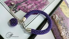 Beaded Bracelet Amethyst (SilverCuteDwarf) Tags: handmade jewelry amethyst beadwork handmadejewelry beadedjewelry purplebracelet fancyjewelry amethystbracelet seedbeadbracelet beadedbangle purplebeadedbracelet classybracelet beadedcrochetrope stylishbangle amethystbeadedbracelet violetbeadedbracelet