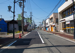 Street in the highly contaminated area after the daiichi nuclear power plant irradiation, Fukushima prefecture, Tomioka, Japan (Eric Lafforgue) Tags: ecology japan horizontal night danger outdoors unsafe dangerous energy asia risk environmental radiation nobody nopeople forbidden pollution ghosttown environment radioactive radioactivity atomic fukushima hazard atom catastrophe exclusion contamination contaminated daiichi tomioka 0people nuclearaccident fukushimaprefecture irradiate colourpicture nuclearindustry fukushimaexplosion japan161831