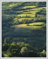 ....and there was light (adam_pierz) Tags: preci umbria italy field trees hill sunrise