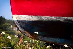 Red, White & Blue (Jae at Wits End) Tags: water blue boat color stripe red line lines marine nautical vehicle