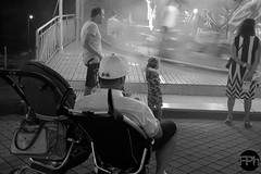 Buggy time (Frankhuizen Photography) Tags: buggy time nederweert netherlands 2016 black white zwart wit blackwhite fotografie photography street straat candid fair funfair men cap