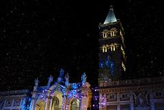 august snow (robra shotography []O] +off -on) Tags: nightshot rome italy night nocturne italia roma santamariamaggiore fuji sooc