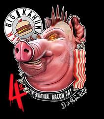 Bacon Day | Big Kahuna Burger (Lovatto Ilustrador) Tags: lovatto lovattoilustrador big kahuna burger bacon day festival international logo porco pork pig punk illustration drawing so paulo sampa brasil brazil london uk united kingdom dibujo quentin tarantino movie pulp fiction setembro 2016