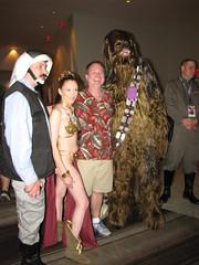 Rebel Trooper, Leia, and Chewbacca (foodbyfax) Tags: dragoncon dragoncon2016 cosplay rebeltrooper princeleiaorgana chewbacca starwars