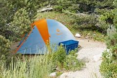 Great Basin National Park, Baker Creek Campground, Site 10 (darthjenni) Tags: basinandrangeprovince greatbasindesert nationalparkservice nevada nps tent whitepinecounty baker california unitedstates us