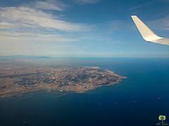 Alger avec, en arrire-plan, le mont Chenoua (Ath Salem) Tags: alger algrie ciel avion baie mer aroport voyage tourisme dcouverte mditerrane tarmac