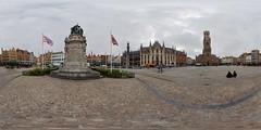 The Market Square of Bruges (lsalcedo) Tags: brguesbelgium marketsquare janbreydel pieterdeconinck