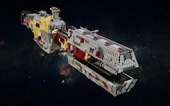 Ktrrykkr (formerly known as  Heir of Pruianus) (FonsoSac) Tags: shiptember starship ship lego scifi moc microscale