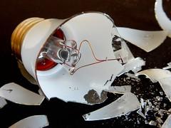Broken, HMM (on Explore, Sept.27, 2016) (M. Carpentier) Tags: macromondays handlewithcare prendreavecsoin lightbulb ampoule lumière brisée brisébroken pieces bris éclats glass verre