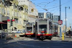 Muni Breda Cars at Duboce Portal IMG_1026 (jsmatlak) Tags: san francisco california muni rail train duboce breda light trolley streetcar tram