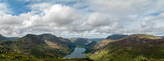 Fleetwith Pike Pano (Lake District September 2016 #9) (Lazlo Woodbine) Tags: fleetwithpike landscape lakedistrict thelakedistrict thelakes cumbria buttermere pike mountain lake lakes crummockwater mountains britain britishcountryside countryside september 2016 pentax k7 1855mm panoramic panorama lightroom water uk england nationalpark nationaltrust