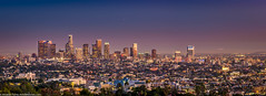 Panorama of Los Angeles in the Twilight (Documentary & Travel Photography) Tags: life blue sky people mountain money art love beauty architecture buildings stars lights evening los twilight downtown view angeles hill culture center science business observatory galaxy passion planetarium griffith endeavor contemplation