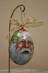 """Red Santa Claus Egg Gourd Painting (sherrylpaintz) Tags: santa christmas original red portrait tree green nature floral woodland painting gold design berry colorful artist berries natural folk ooak decorative wildlife country victorian style oldman holly ornament santaclaus romantic chic custom majestic hanger acrylicpainting whimsical treasures patina realism primitive décor realistic 2014 hollyberries art"""" whitebeard artist"""" style"""" """"hand """"wall """"wildlife """"folk egggourd christmaspainting """"primitive painted"""" chic"""" """"shabby """"decorative gourdpainting santaclausportrait sherrylpaintz santaclauspainting """"decorating"""