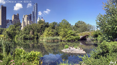 SKSmedia-NY-CentralPark Panorama (SKSchicago) Tags: park new york city nyc trees summer sky urban bw plants white plant ny black building green tower clouds buildings boat pond downtown day cityscape cloudy manhattan gray central sharp highrise hdr highrises partly sks sksmedia skschicago