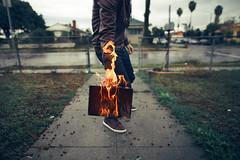 """The Burning Truth"" (Kavan The Kid) Tags: portrait art photoshop self dark real fire photography weird kid sad fine surreal eerie burn strang kavan 365project"