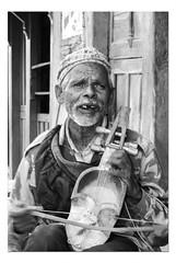 Nepalese Musician (mistersteeb) Tags: old nepal music man black four blackwhite musical bow instrument strings nepalese sarangi mistersteeb stevecannings