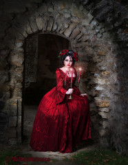 Show me the light (Azadeh Brown) Tags: fairytale princess goth medieval tudor queen vogue fantasy masquerade gothgirl azadeh 18thcentury darkart rosered gothchick newromantic gothbride gothwedding darkbeauty darkfairytale gothicqueen azacdesigns azadehbrown