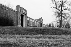 Franklin School: 1921-2015 (D A Baker) Tags: school bw white black abandoned dan saint st neglect franklin high fuji baker fort decay daniel wayne ghost poor neglected police indiana haunted abandon ave da marys junior fujifilm ft avenue academy elementary janitor fortwayne stewards irresponsible danielbaker danielabaker x100s