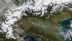 18 Novembre 2014 Da notare lo scarico delle acque fluviali in Adriatico