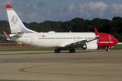 LN-DYG Gatwick 31 August 2014 (ACW367) Tags: boeing gatwick 737800 norwegianairshuttle lndyg