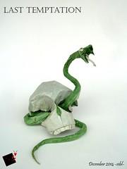 last temptation (-sebl-) Tags: skull origami snake temptation unryu lokta sebl