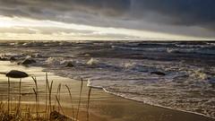 Seaside (©Andrey) Tags: winter sea sun water weather clouds landscape seaside sand aqua gulf sony wave baltic explore riga lv lettonie explored a99 abigfave shtorm sal1635f28