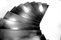 downward (Jacques Tueverlin) Tags: bw abstract architecture composition canon deutschland eos curves struktur structure treppe staircase architektur helix minimalism wendel schwarzweiss canoneos spirale bogen 2014