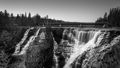 Kakabeka Falls (_Matt_T_) Tags: bw k k5iis kakabeka kaministiquiariver nd8 ontario pentax smcpda15mmf40edal thunderbay wideangle kakabekafalls