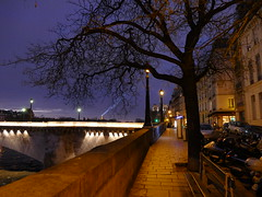 Le Pont de la Tournelle - Paris - Île-de-France -  France (vanaspati1) Tags: bridge paris france water de la town eau îledefrance tour lumière eiffel bateaux rivière notredame cathédrale le pont paysage nuit ville fleuve tournelle vanaspati1